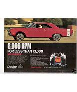 1969 DODGE DART SWINGER 340 VINTAGE CAR AD - $10.99
