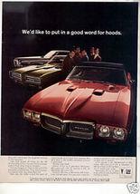 1969 1970 PONTIAC GTO VINTAGE CAR AD - $9.99