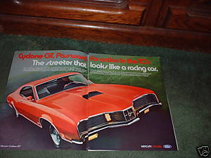 1970 MERCURY CYCLONE GT VINTAGE CAR AD