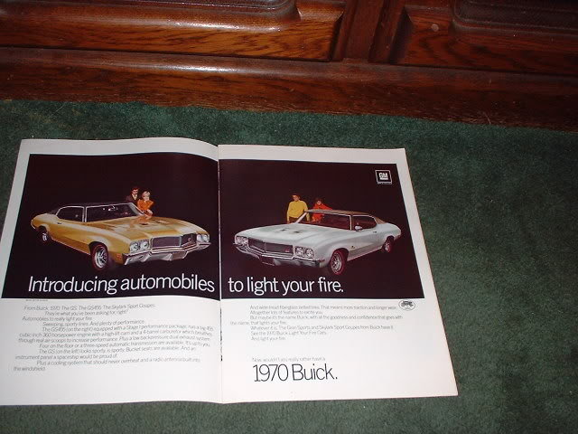 1970 BUICK SKYLARK GS SPORT COUPE GS 455 CAR AD