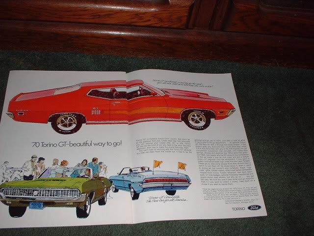 1970 FORD TORINO GT VINTAGE CAR AD