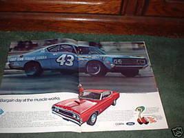 1969 Ford Torino Cobra Car Ad Richard Petty 2-PAGE - $14.99