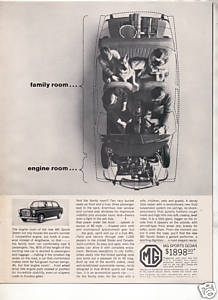 1963 1964 MG SPORTS SEDAN VINTAGE CAR AD