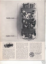 1963 1964 MG SPORTS SEDAN VINTAGE CAR AD - $7.99