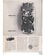 1963 1964 MG SPORTS SEDAN VINTAGE CAR AD - $7.99
