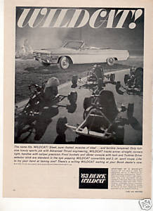 1963 BUICK WILDCAT CONVERTABLE CAR AD