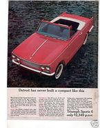 1963 TRIUMPH SPORTS 6 SIX VINTAGE CAR AD - $7.99