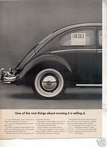 1964 VW VOLKSWAGEN BUG BEETLE CAR AD - $7.99