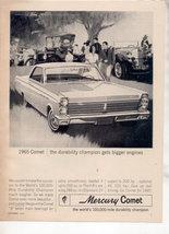 1965 MERCURY COMET VINTAGE CAR AD - $7.99