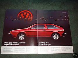 1982 VOLKSWAGEN SCIROCCO CAR AD 2-PAGE - $7.49