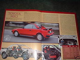 1984 TOYOTA MR2 ORIGINAL ROAD TEST 5-PAGE - $5.99