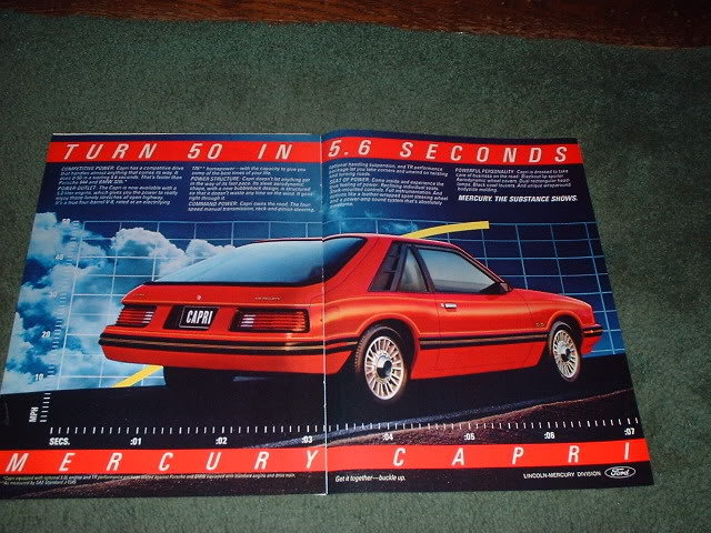 1983 MERCURY CAPRI CAR AD 2-PAGE