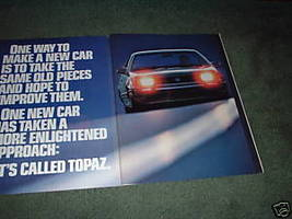 1984 MERCURY TOPAZ CAR AD 4-PAGE - $9.99