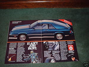 1983 1984 DODGE SHELBY CHARGER CAR AD 2-PAGE