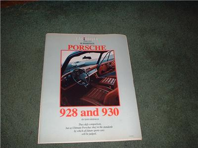 1978 PORSCHE 928 AND 930 SUPERTEST ROAD TEST AD 11-PAGE