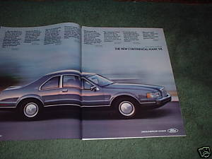 1983 1984 LINCOLN CONTINENTAL MARK VII CAR AD 3-PAGE