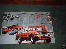 1983 NISSAN PICKUP TRUCK BROCHURE CAR AD 4-PAGE - $9.99