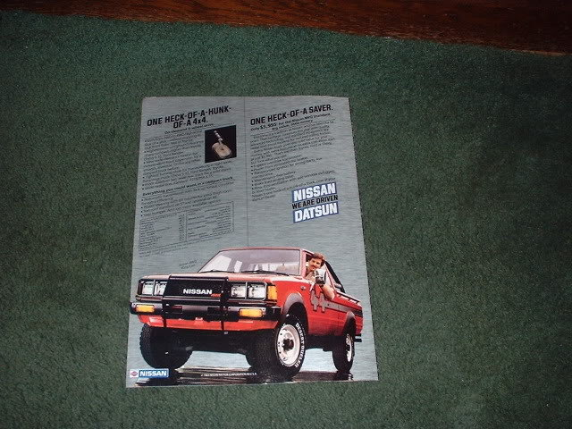 1983 NISSAN PICKUP TRUCK BROCHURE CAR AD 4-PAGE