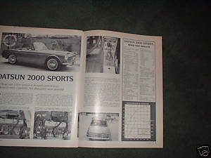 1967 DATSUN 2000 SPORTS ROAD TEST CAR AD 2-PAGE