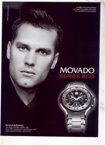 TOM BRADY MOVADO WATCH AD