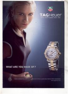 MARIA SHARAPOVA TAGHEUER TAG HEUER WATCH AD
