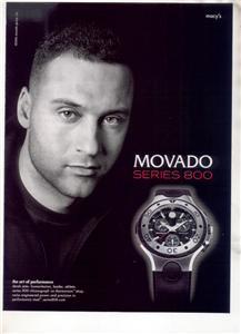 DEREK JETER MOVADO WATCH AD