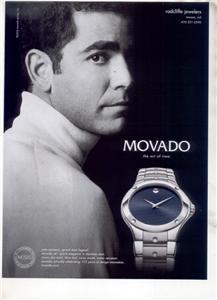 PETE SAMPRAS MOVADO WATCH AD