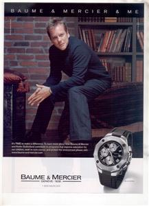 KIEFER SUTHERLAND BAUME & MERCIER WATCH AD