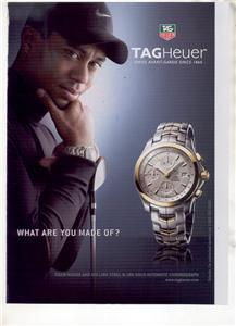 TIGER WOODS TAGHEUER TAG HEUER WATCH AD