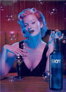 SKYY VODKA BLOND POSTER TYPE AD