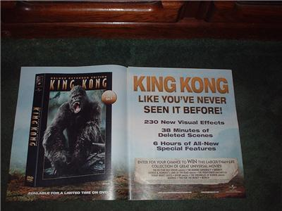 KING KONG 2-PAGE POSTER TYPE AD