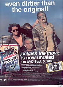 JACKASS THE MOVIE POSTER TYPE AD