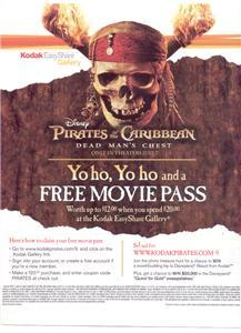 PIRATES OF THE CARIBBEAN POSTER TYPE AD