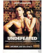 JOHN LEGUIZAMO UNDEFEATED HBO AD - $4.99