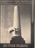 PINK FLOYD FLYING PIG TOUR FLYER CONCERT PROMO AD