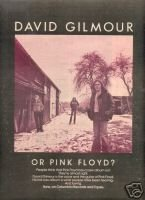 PINK FLOYD DAVID GILMOUR LP PROMO AD 1978 VERY NICE AD