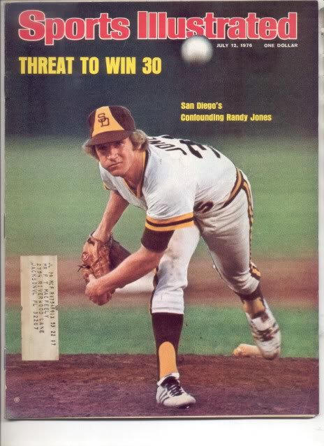 * 1976 SPORTS ILLUSTRATED SAN DIEGO RANDY JONES