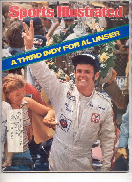 * 1978 SPORTS ILLUSTRATED AL UNSER WINS 3RD INDY