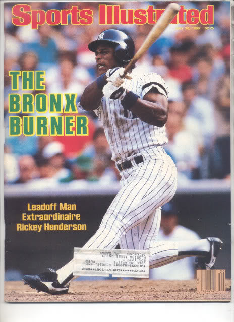 * 1986 SPORTS ILLUSTRATED NY RICKEY HENDERSON