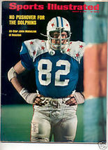 1973 SPORTS ILLUSTRATED HOUSTON JOHN MATUSZAK - $7.69