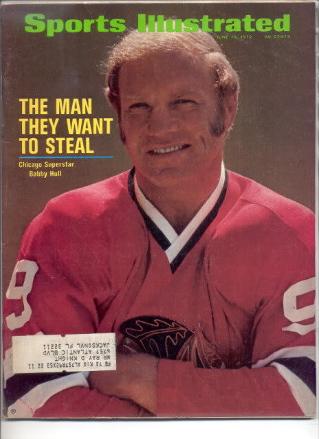 * 1972 SPORTS ILLUSTRATED CHICAGO BOBBY HULL