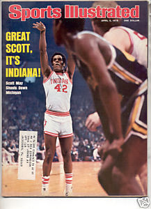 * 1976 SPORTS ILLUSTRATED INDIANA SCOTT MAY