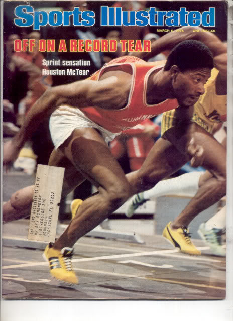* 1978 SPORTS ILLUSTRATED HOUSTON MCTEAR SPRINT RUNNER