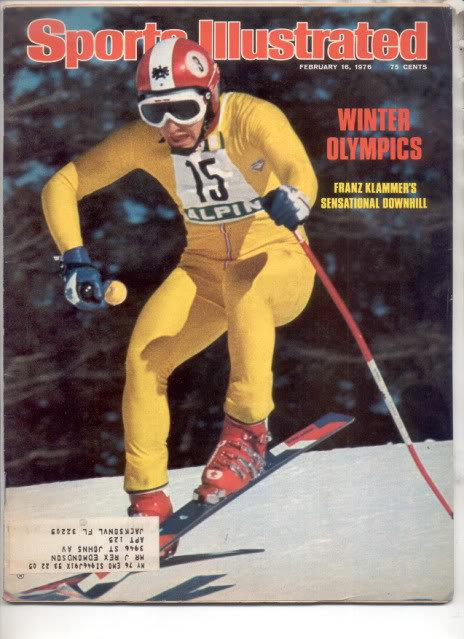 * 1976 SPORTS ILLUSTRATED WINTER OLYMPICS FRANZ KLAMMER