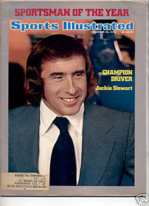 1973 SPORTS ILLUSTRATED JACKIE STEWART CHAMPION