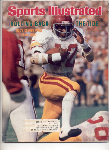 * 1978 SPORTS ILLUSTRATED USC CHARLES WHITE
