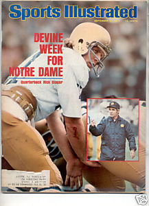 1975 SPORTS ILLUSTRATED NOTRE DAME RICK SLAGER