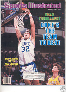 * 1986 SPORTS ILLUSTRATED MARK ALARIE DUKE NCAA