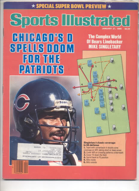 * 1986 SPORTS ILLUSTRATED CHICAGO SUPER BOWL PREVIEW