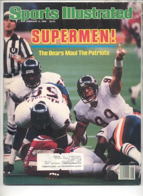 * 1986 SPORTS ILLUSTRATED BEARS MAUL PATRIOTS